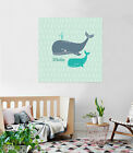 3D Swimming Whale Baby  Wall Stickers Vinyl Murals Wall Print Decal Art AJ STORE