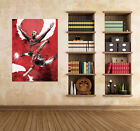 3D Running Football Man Wall Stickers Vinyl Murals Wall Print Decal Art AJ STORE