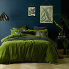 NEW Mossy Road Cotton Velvet Quilt Cover Set Euroluxe Linen Vintage Quilt Covers