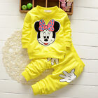 Baby Girl Minnie Mouse Long Sleeve Tops T-shirt Pants 2Pcs Outfits Set Clothes