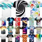Fashion Women Men 3D Print Summer Short Sleeve Tops Casual Graphic Tee T-Shirt