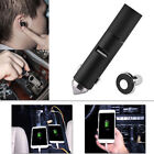 3 in 1 Hands-free Bluetooth Earphone Headset Car USB Charger with Safety Hammer