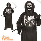 Child Glow Chest Reaper Costume Halloween Horror Boys Fancy Dress Outfit New
