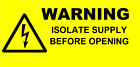 Mini Electrical Warning Isolate Supply Labels /Stickers (70 x 30mm) non rip