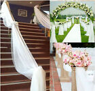 10M Top Table Chair Swags Sheer Organza Fabric Wedding Party Decoration Eager