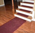 Dean Premium N. Z. Wool Carpet Stair Treads - Madison Bordeaux (13) w/Runner