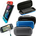 For Nintendo Switch Bag Hard Shell Carrying Case Cover+ HD Screen Glass Film NEW