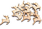 25 x Wooden Reindeer shapes Stags Deer Craft Blanks MDF Shapes Confetti 2cm