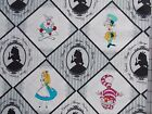 Alice in Wonderland Fabric Gray Always Curious Disney Camelot 100% Cotton