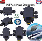 UK 2/3  IP68 Way Waterproof Electrical Cable Wire Connector Outdoor Junction Box