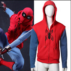 Spider-Man: Homecoming Coat Peter Parker Red Hoodie SweatShirt Cosplay CostumeUS