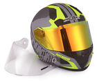 NENKI Full Face Hi Viz Yellow Helmet  With Spare Anti Fog Visor,DOT Approval