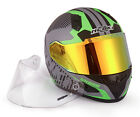 Full Face DOT Helmet NK-856 with fiberglass shell and One Spare Anti Fog Visor