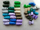 6x Plastic Cord Locks Spring Toggles AND 6x Bell Shape Ends Various Colours