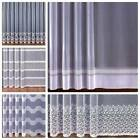 NEW Jacquard LIVING ROOM BEDROOM Net Curtains, price per metre, 120, 150, 160cm