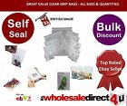 'CLEAR' PVC GRIP SEAL BAGS - All Sizes Available -Great value & Quality 41