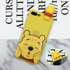 3D Cute Cartoon Kids Kawaii Dolls Bear Soft Silicone Case Cover Skin For iPhone