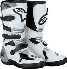 Alpinestars Youth Tech 6S Motocross ATV Boot Youth Size 1-8 White/Silver