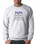 Long Sleeve T-shirt Unique Papa The Man Myth Legend Father Father's Day