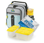 New 8 pc: Leak Proof Thermos Insulated Kids School Lunch Box Backpack Bag & Tote