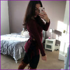 Hoodie Winter Top Lace Up Front Hoody Clubbing Jumper Womens Sexy Ladies Size❤