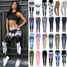 Women Sport Pants Yoga Fitness Leggings Running Gym Exercise Stretch Trousers Us