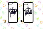 King and Queen His and Her Phone cases Samsung s3-s8 iphone 4-7