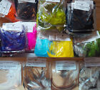 Strung Saddle Hackle, Small Bags, Assorted Colors and Sizes