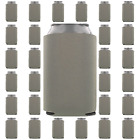 Gray/Grey Can Coolers Beverage Insulators Wedding Favors Party Supplies
