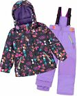 Deux par Deux Girls' 2-Piece Snowsuit Confetti Garden Purple, Sizes 4-14