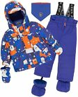 Deux par Deux Little Boys' 2-Piece Snowsuit Mechant Look Blue, Sizes 18-36M