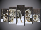 Framed Picture Canvas Prints A Pack of Wolves Wolf Snow Wild Animal Wall Art