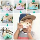 Kids Cute Wood Camera Toy Xmas Children Room Decor Natural Safe Wooden Camera PF