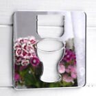 Square Mirrored Acrylic Toilet Sign