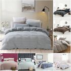 PURE ERA Egyptian Quality Jersey Knit Cotton Striped Bedding Duvet Cover Sets