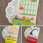Stick & Big Memo Tabs Notes Sticky Panda Cat Paradise Birds Kawaii Stationery