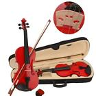 New Natural Black 4/4 3/4 1/2 1/4 1/8 Size Acoustic Violin with Case Bow UK