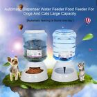 3.5L Pet Dogs Cat Puppy Automatic Bowl Water Drinker Dispenser food Feeder LN