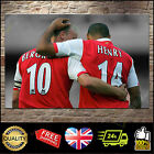 Thierry Henry Dennis Bergkamp Arsenal Canvas Print Wall Art Poster Picture Frame