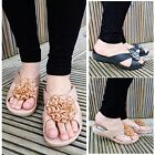 Womens Ladies Summer Slip On Floral Slider Pool Mules Shower Jelly Shoes UK Size