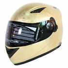NENKI DVS Helmet NK-830 Chrome Iced Gold Full Face Motorcycle Street Helmet