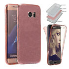 Slim 360°full Cover Clear Crystal Soft Silicone Back Protective Case For Samsung