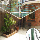 4ARMS ROTARY CLOTHES AIRER OUTDOOR WASHING LINE GROUND DRYER+FREE COVER & SPIKE
