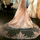 White  Ivory Wedding Veils 1T Lace 3M Cathedral Length Bridal Veil+Com