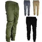 skinny combat trousers - Men's Fashion Casual Skinny Cotton Harem Pants Overalls Cargo Trousers Combat