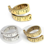 Antique Folding Ruler Ring Sewing Crative Tape Measure Warp Open Band Ring Gift