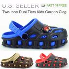 Garden Clogs Shoes For Boys Kids Toddler Slip On Casual Two tone Slipper Sandals