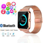 Rose Gold Bluetooth Smart Wrist Eye Steel Band Phone Colleague For Android iPhone