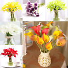 10x Artificial Latex Real Touch Calla Lilly Fake Flower Bouquet Party Home Decor