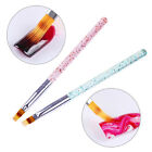 Gradient Acrylic UV Gel Brush Painting Pen Glitter Handle Red Green Nails DIY